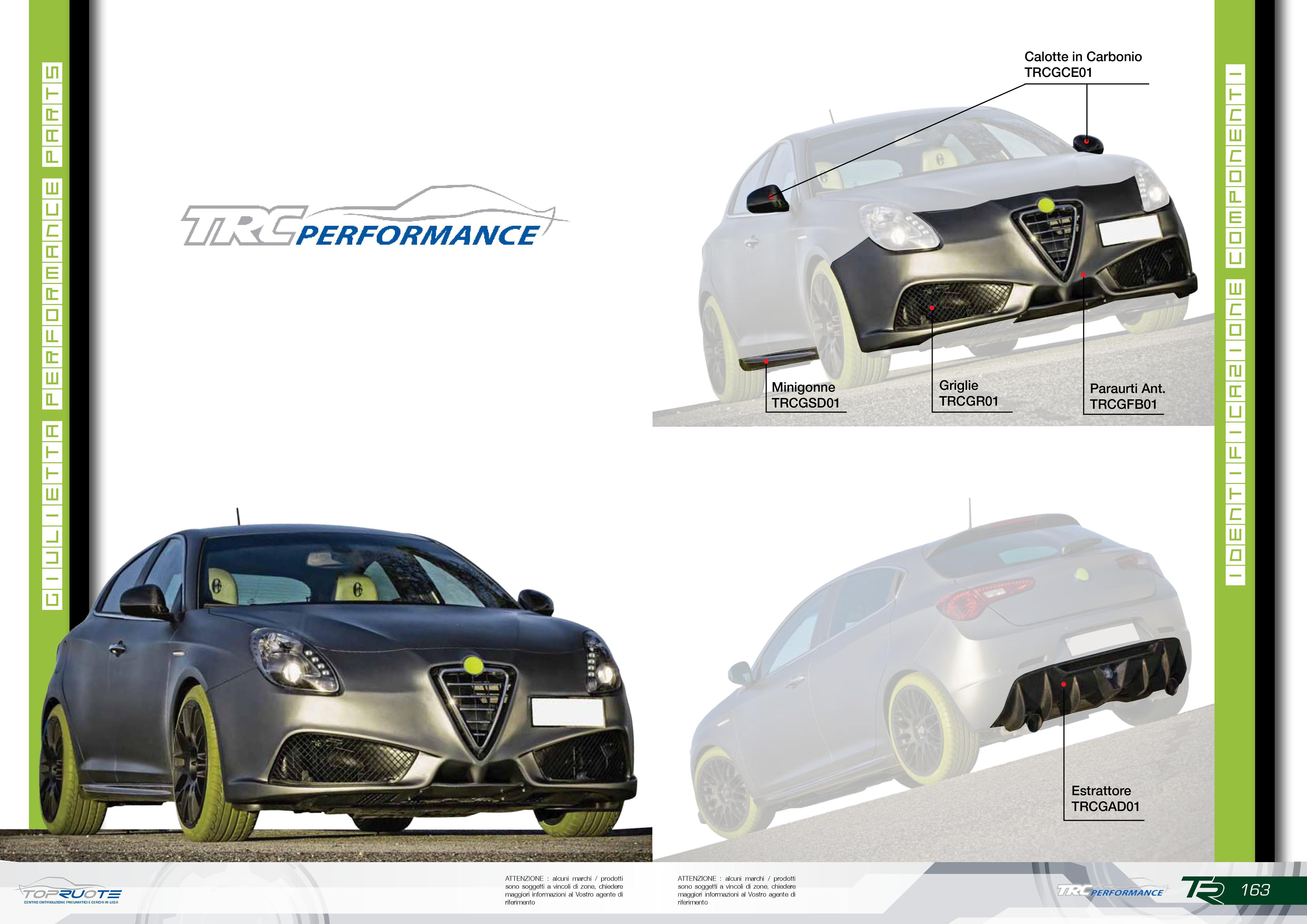 Kit estetico TRC Performance Alfa Giulietta